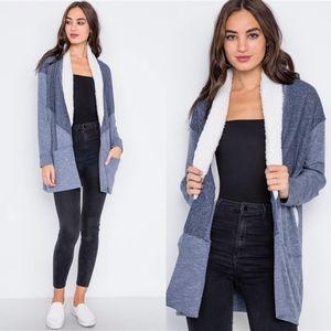 EMILY Softest Long Sleeve Cardigan - NAVY